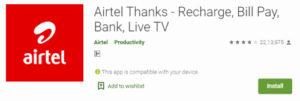 Airtel Thanks APP