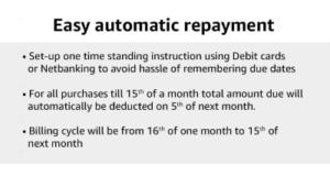 Amazon Easy Repayment